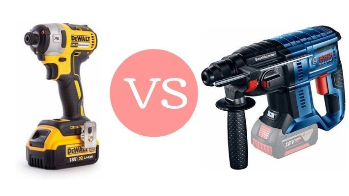 Impact Driver Vs Hammer Drill – What's the Difference?
