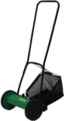Oypla Manual Hand Push Grass Cutter Lawn Mower