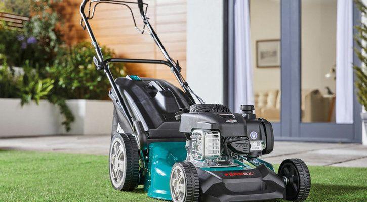 best petrol lawn mowers UK