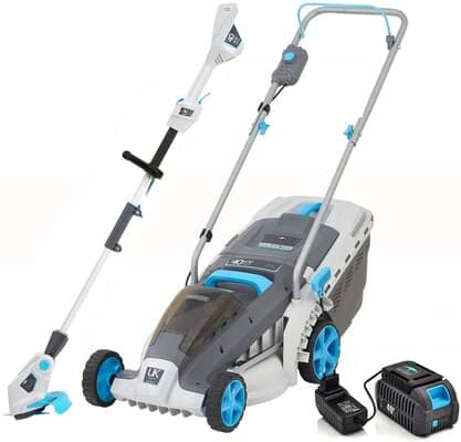 SWIFT 40 V Cordless Digital Wide Lawn Mower and Grass Trimmer