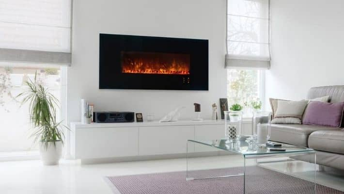 Wall Mounted Electric Fires UK | Modern Electrical Fireplace Reviews