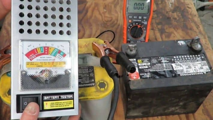 Visual Inspection Of The Lawnmower Battery