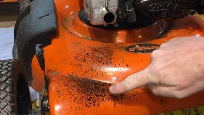 Lawn Mower Spitting Oil Out Exhaust