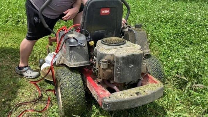 Symptoms of a lawnmower starter problem